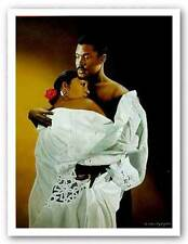 AFRICAN AMERICAN ART PRINT Embrace Edward Clay Wright