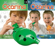 OCARINA, Green 4-hole, Play Your Ocarina BOOK 1 and CAROLS