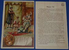 RARE 1900 CHROMO GRANDE IMAGE ECOLE BON-POINT HENRI IV ET SES ENFANTS