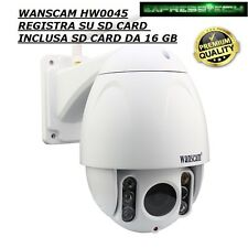IP CAMERA DOME WANSCAM HW0045 ONVIF WIFI PTZ ZOOM 5X HD 2 MPX 1080P HD H264