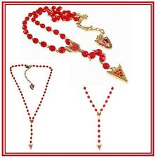 DISNEY COUTURE POCAHONTAS RED BEAD ROSARY/SWAROVSKI NECKLACE**GORGEOUS!**NEW!