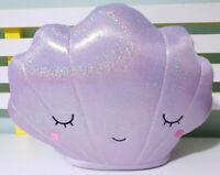Kmart Shiny Sparkley Seashell Plush Toy Purple Children's Toy 27cm Tall!