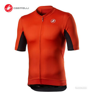 NEW 2021 Castelli VANTAGGIO Short Sleeve Cycling Jersey : FIERY RED/BLACK