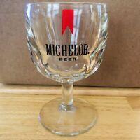 Michelob Beer Heavy Stemmed Goblet Dimpled Schooner Glass