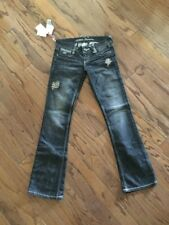 Nwt $89. GUESS STUDD EMBROIDERED Premium Women' s Daredevil Boot Cut, Size 25