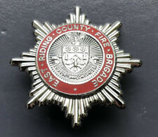 EAST RIDING COUNTY FIRE BRIGADE CAP BADGE.