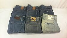 LOT of 6 Mens Designer Blue Jeans Banana Republic Old Navy Gap AE Size 30 x 32