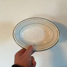Vintage Wood & Sons England Ironstone Soap Dish Diner Serving Bowl New York 1930