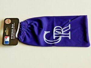 (2) Brand New, Sealed COLORADO ROCKIES Official MLB Microfiber Eyewear Bags