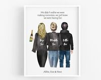 Personalised Siblings Gift,Brother Sisters Family Print,Mothers Day Present