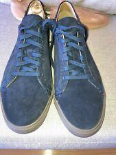 LORO PIANA MEN'S FREETIME WALK CROC/SUEDE NAVY BLUE LACEUP SHOES 45/12