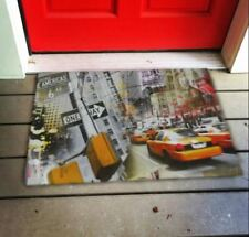 Anti Slip Non Skid Welcome 3D Rubber Indoor Outdoor Door Mat Street View