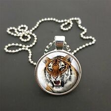 """Tiger Pendant On 18"""" (Or Any Size)  Ball Chain Necklace Birthday Gift N36"""