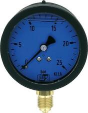 Öldruckmanometer mit Glyzerin 0 - 25 bar 63 mm für Pumpenprüfkoffer Manometer