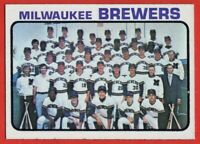 1973 Topps #127 Milwaukee Brewers Team NEAR MINT/MINT+ Ken Brett FREE SHIPPING