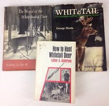 3 Whitetail Deer Hunting Books Luther Anderson George Mattis Leonard lee Rue III