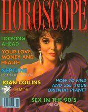 JOAN COLLINS - Vintage British Magazine HOROSCOPE June 1993 C#33