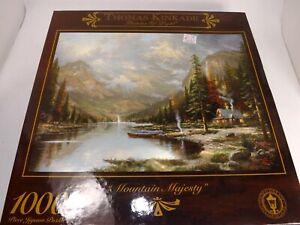 """Sealed Thomas Kinkade """"Mountain Majesty"""" 1000 Piece Jigsaw Puzzle  NEW by Ceaco"""