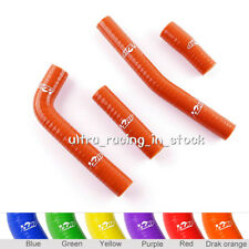 Orange For YAMAHA YZ426F 2000 2001 2002 Silicone Radiator Coolant Hoses 4 pieces