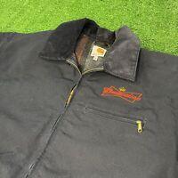 Carhartt Budweiser Blanket Lined Duck Detroit Vintage USA Made Jacket Mens 2XL