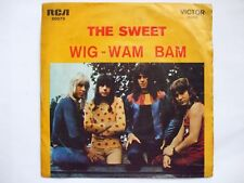 THE SWEET - WIG WAM BAM /NEW YORK CONNECTION 45/7 SINGLE 1972 PORTUGAL GLAM ROCK