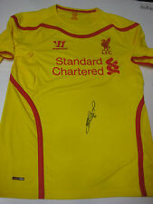 LIVERPOOL- STEVEN GERRARD HAND SIGNED 2014-15 JERSEY + PHOTO PROOF + C.O.A