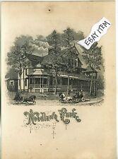 1882 advertising card WOODLAWN PARK Saratoga Springs NEW YORK Judge Henry Hilton