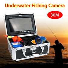 "30m Professional Fish Finder Underwater Ice Fishing Camera 7"" Monitor HD 1000TVL"