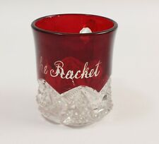 Star of David Small Handled Mug Engraved The Racket Ruby Stained