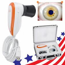 5.0 USB Eye Iriscope Iris Analyzer Iridology camera Pupilometer +new Software