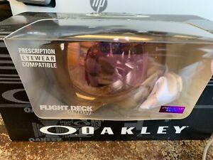 Oakley Flight Deck Snow Goggle Matte Black w/Prizm HI Pink