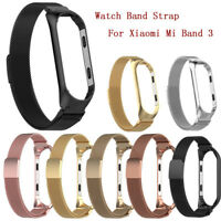 Luxury Milanese Magnetic Stainless Steel Watch Band Strap For Xiaomi Mi Band 3