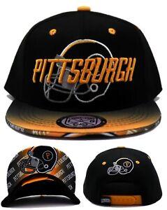 Pittsburgh New Leader Toddler Flash Steelers Black Gold Era Snapback Hat Cap