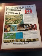1967 VINTAGE 10X13 Print Ad for CELEBRATE CANADA'S 100TH BIRTHDAY TORONTO EXPO