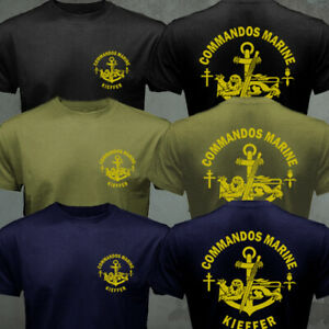 French Navy Special Forces Commandos Marine Fusiliers Marins Kieffer T-shirt
