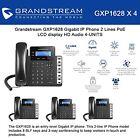 Grandstream GXP1628 Bundle of 4 Gigabit IPphone 2 Lines PoE LCD display HD New