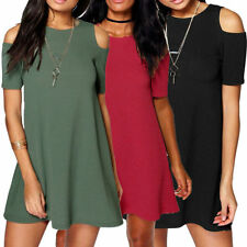 Unbranded Regular Size Dresses for Women with Cold Shoulder