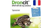 Droncit Vermifuge Chat Santé Gouttes Spot-On Chien 4Pipettes Bayer 2.5 à 5KG FR