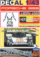 DECAL 1/43 PORSCHE 956 LASSIG/REGOUT/PAREJA SPA 1985 8th (02)