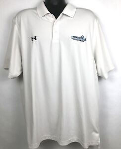 Under Armour men's white UNC Basketball polo shirt size 2XL