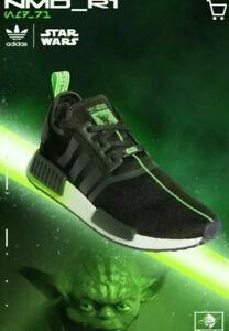 adidas NMD R1 x STAR WARS YODA EARTH SOLAR GREEN BLACK JEDI FW3935 Running Men's