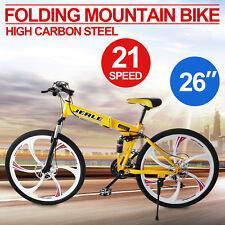 "26"" FOLDING GT GIALLO MTB MOUNTAIN BIKE, 21, Shimano DISC BRAKE, bicicletta"