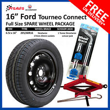 "16"" FORD TOURNEO CONNECT 2014-2017 FULL SIZE STEEL SPARE WHEEL TYRE + TOOL KIT"