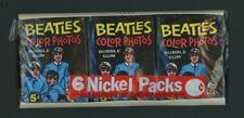 1964 Topps The Beatles Color Photos Wax Pack Tray 6 Packs SUPER RARE