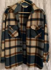 Vintage Woolrich Plaid Blanket Winter Coat M Button Down Beautiful