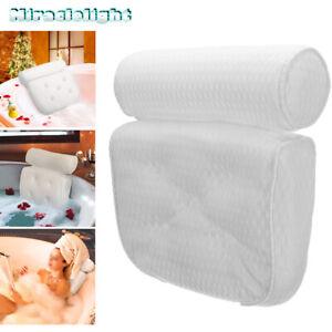 Luxury Bathroom Spa Bath Pillow Non-Slip Comfortable Bathtub Headrest Cushion UK