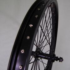 20 Zoll BMX Vorderrad Kastenfelge schwarz 48 Loch Vollachse