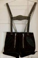 Süße Kinder Vintage Echtleder Lederhose mit Lederträgern  Gr 104