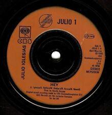 Julio Iglesias Hé vinyl record 7 pouces CBS Julio 1 1980