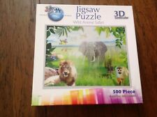 3D lenticular puzzle. Wild animal safari. 500 pieces. Very good condition